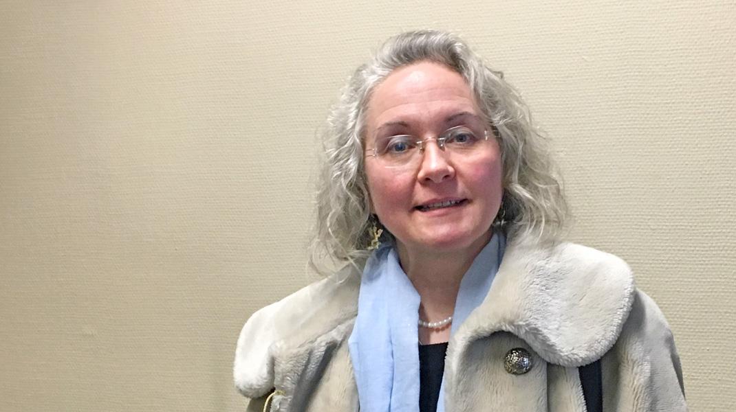 Die notorische Holocaustleugnerin Sylvia Stolz nach der Urteilsverkündung.